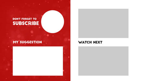 YouTube End Screen Video Template, Outro Card 007 Animation
