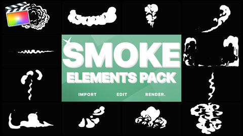 Cartoon Smoke Elements Apple Motion Template