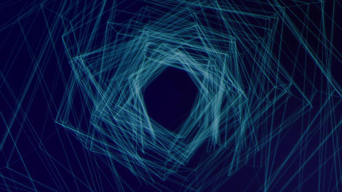 宇宙空間のワープイメージ CG動画
