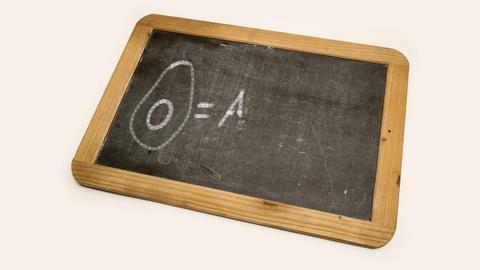 drawing of an avocado on a blackboard Footage