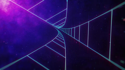 Endless Grid Tunnel in Space Animation