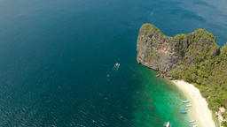 Tropical island with sandy beach. El nido, Philippines Photo