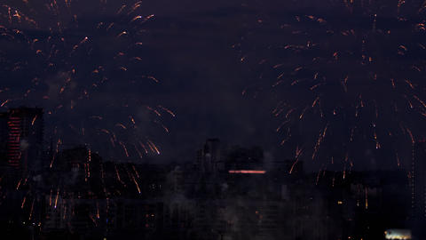 Beautiful firework at evening sky Footage