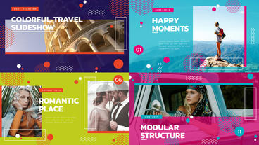 Colorful Travel Slideshow After Effects Template