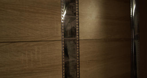 Developed 35mm film negative close-up - hanging to dry before scanning Live Action
