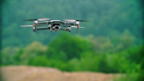 Russia, Krasnodar June 18, 2019: Lapse Mavic Pro 2 Drone, Soaring On a Live Action