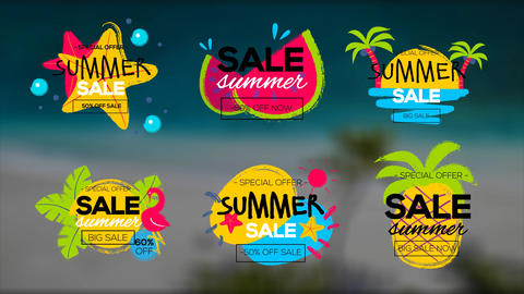 Summer Sale Titles After Effectsテンプレート