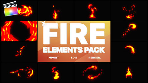 Fire Elements Apple Motion Template