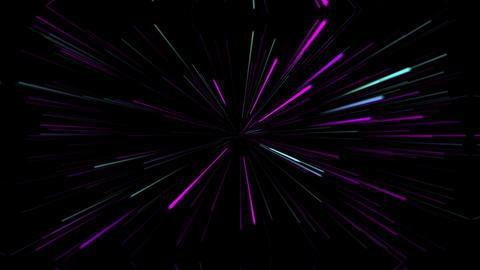 宇宙空間をワープするイメージの光線 CG動画