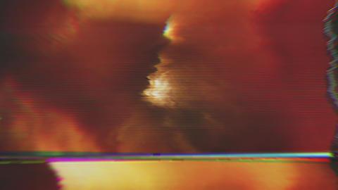 Cyberpunk bad trip effect light transformations... Stock Video Footage