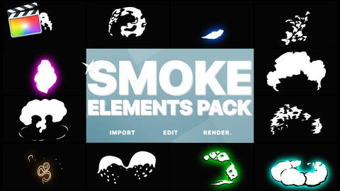2DFX Smoke Elements Pack Apple Motion Template