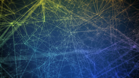 Abstract colorful animated network lines Animation