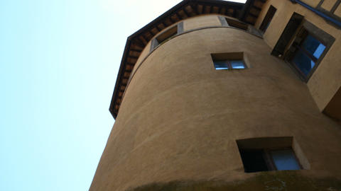 The historic center with the tower of Palazzo Ruspoli, Nemi Roman province Footage