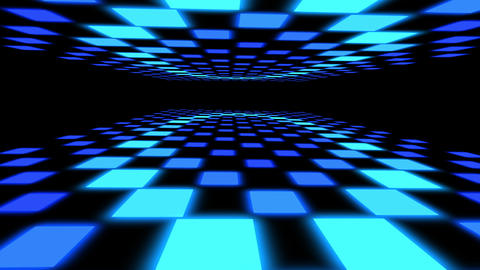 Dance floor with multiple flashing lights seamless loop Animation
