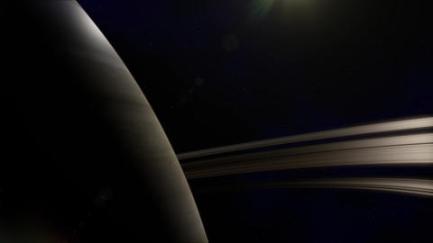 Saturn Planet in Space Animation
