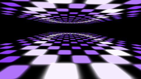 3D purple dance floor with multiple flashing lights seamless loop Animation