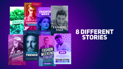 8 Different Stories After Effects Template