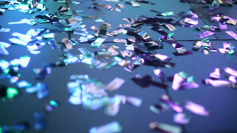 Feet shoes dancing confetti on the floor. People dance on the dance floor. Legs Live Action