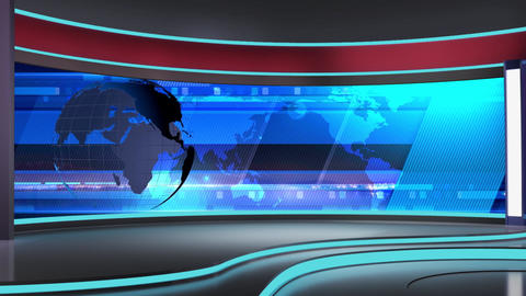 News TV Studio Set 186 - Virtual Background Loop Live Action