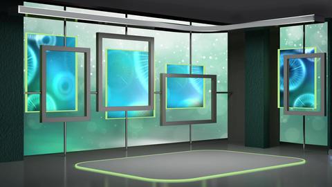 News TV Studio Set 188 - Virtual Background Loop Live Action