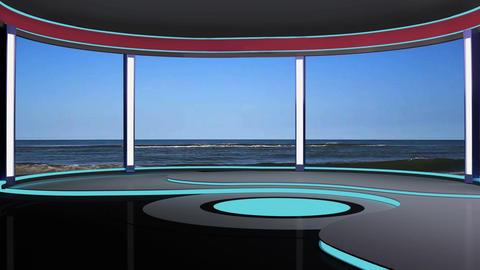 News TV Studio Set 189 - Virtual Background Loop Footage