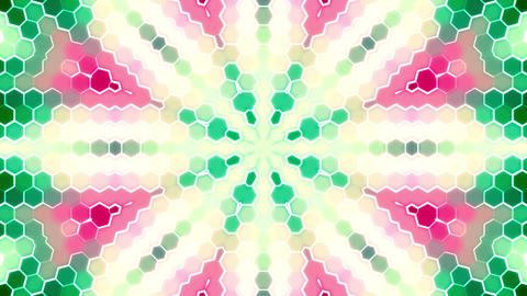 Kaleidoscope Flower Led Pannels Lights Flicker Loop Background Animation