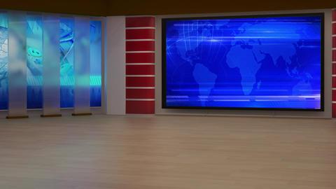News TV Studio Set 195 - Virtual Background Loop Footage