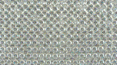 Diamonds scattering or flying away over studio light background 4K Animation