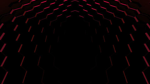 Hexagonal technology background Animation