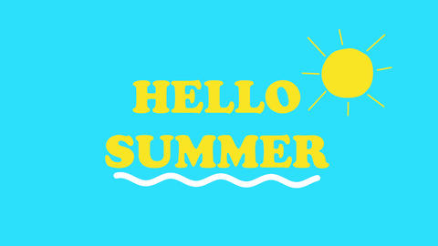 Hello summer holiday background Animation