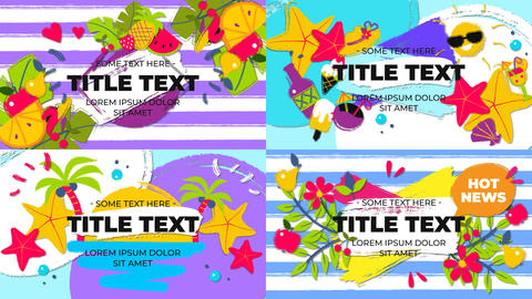 Tropical Summer Titles After Effects Template