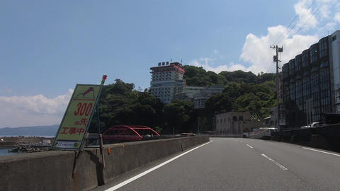 Japanese landscape. Roads and bridges by the sea Footage