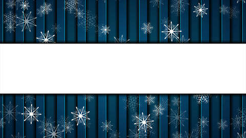 Abstract falling snowflakes on dark blue background video animation Videos animados