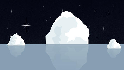 Iceberg Melting in Antarctica Cause of Global Warming Footage