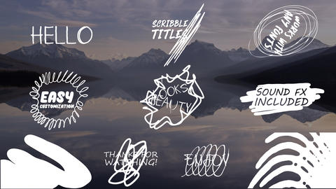Cartoon Scribble Titles Motion Graphics Template