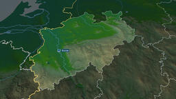 Nordrhein Westfalen - state of Germany. Physical Animation