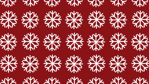 animated pattern with snow crystal ideal for the Christmas season Footage
