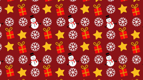 animated pattern with Christmas icons ideal for the Christmas period Footage