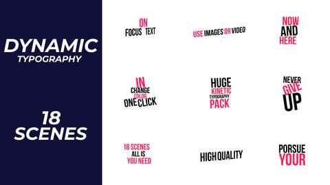 Dynamic Typography Motion Graphics Template