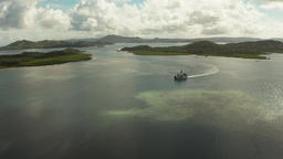 Passenger ferry among the islands and lagoons Footage