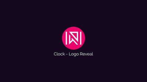 Clock Logo Reveal After Effects Template