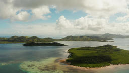 Seascape with tropical islands and turquoise water Footage