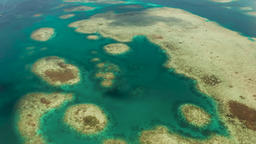 Transparent blue sea water in the lagoon Footage