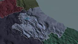 Abruzzo - region of Italy. Administrative Animation