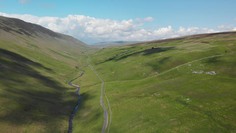 A forward moving shot of the Barbon Beck Valley Carnforth (V353) Live Action