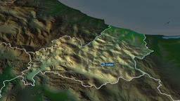Molise - region of Italy. Physical Animation