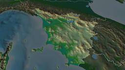 Toscana - region of Italy. Physical Animation