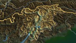 Trentino Alto Adige - autonomous region of Italy. Physical Animation