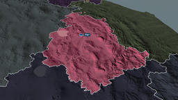 Umbria - region of Italy. Administrative Animation
