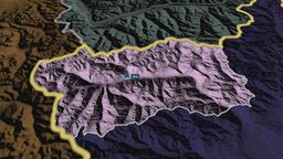 Valle Daosta - autonomous region of Italy. Administrative Animation